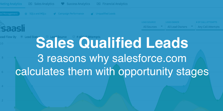 Sales Qualified Leads: 3 reasons why salesforce.com calculates them with opportunity stages