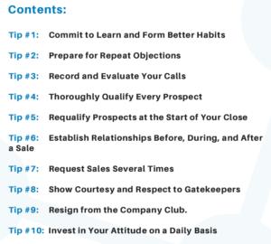 sales tips contents